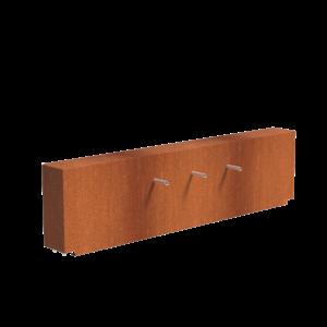 Adezz Producten Adezz Vijver Muren (Vast) (Incl. Waterfall 3 pipes + VP3 Pump) Cortenstaal Rechthoek 250x25x60cm