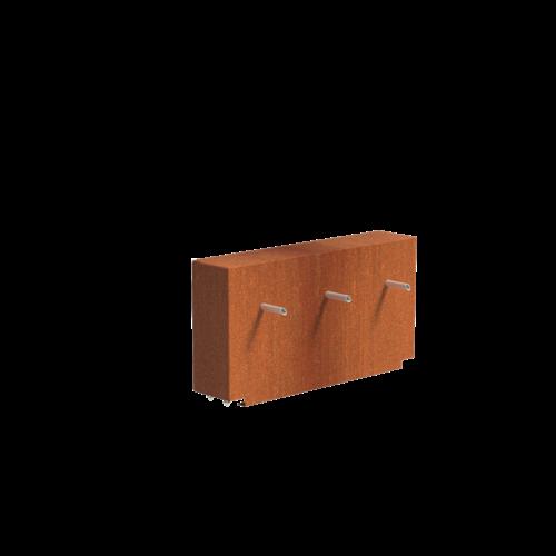 Adezz Producten Adezz Vijver Muren (Vast) (Incl. Waterfall 3 pipes + VP3 Pump) Cortenstaal Rechthoek 120x25x60cm