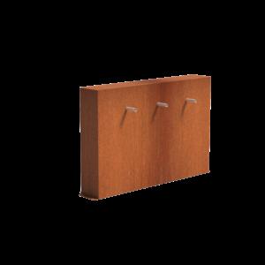 Adezz Producten Adezz Vijver Muren (Vrij) (Incl. Waterfall 3 pipes + VP3 Pump) Cortenstaal Rechthoek 150x25x60cm
