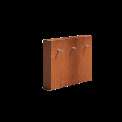 Adezz Producten Adezz Vijver Muren (Vrij) (Incl. Waterfall 3 pipes + VP3 Pump) Cortenstaal Rechthoek 120x25x60cm
