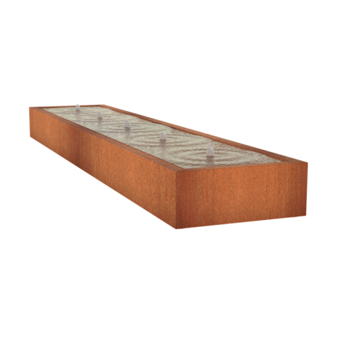 Adezz Producten Adezz Watertafel Cortenstaal Rechthoek 500x100x40cm