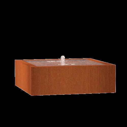 Adezz Producten Adezz Watertafel Cortenstaal Vierkant 120x120x40cm