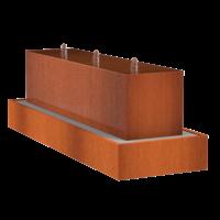 Adezz Waterblok Cortenstaal Rechthoek 300x70x70cm