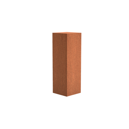 Adezz Producten Adezz Sokkel Cortenstaal Vierkant 40x40x120cm