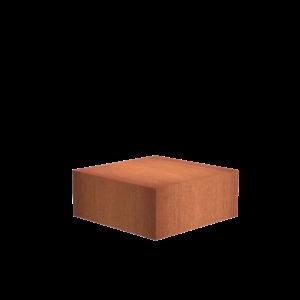 Adezz Producten Adezz Sokkel Cortenstaal Vierkant 120x120x40cm