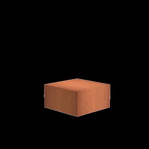 Adezz Producten Adezz Sokkel Cortenstaal Vierkant 80x80x40cm