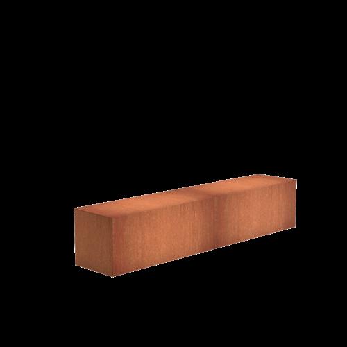 Adezz Producten Adezz Sokkel Cortenstaal Rechthoek 200x40x40cm