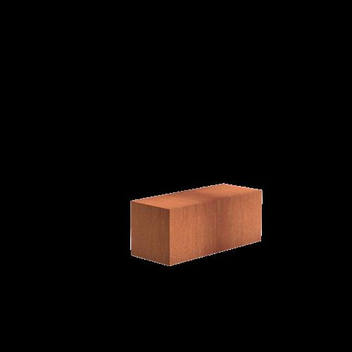 Adezz Producten Adezz Sokkel Cortenstaal Rechthoek 100x40x40cm