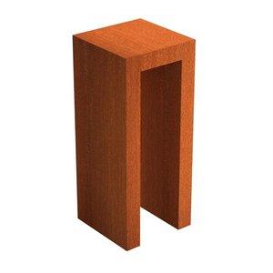 Adezz Producten Adezz U-Sokkel Cortenstaal Vierkant 50x50x120cm
