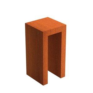 Adezz Producten Adezz U-Sokkel Cortenstaal Vierkant 50x50x100cm