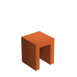 Adezz Producten Adezz U-Sokkel Cortenstaal Vierkant 50x50x60cm