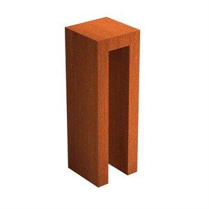 Adezz Producten Adezz U-Sokkel Cortenstaal Vierkant 40x40x120cm