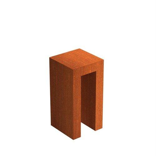 Adezz Producten Adezz U-Sokkel Cortenstaal Vierkant 40x40x80cm
