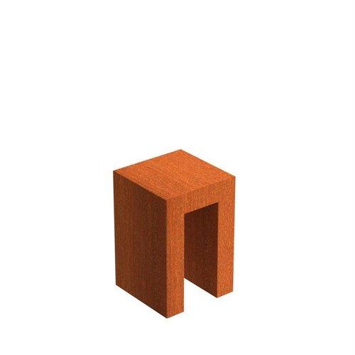 Adezz Producten Adezz U-Sokkel Cortenstaal Vierkant 40x40x60cm