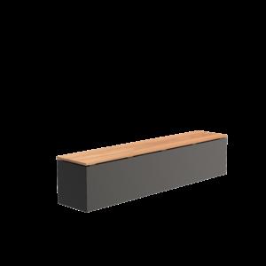 Adezz Producten Adezz Bank Aluminium Rechthoek 200x40x43cm