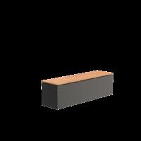 Adezz Bank Aluminium Rechthoek 150x40x43cm