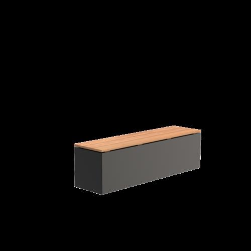 Adezz Producten Adezz Bank Aluminium Rechthoek 150x40x43cm