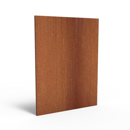 Adezz Producten Adezz Tuinpaneel Cortenstaal Dicht paneel 135x5x180cm