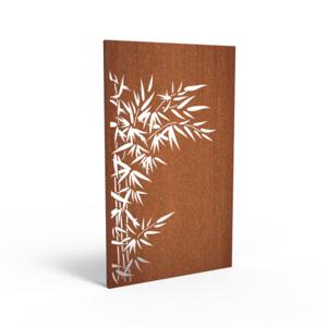Adezz Producten Adezz Tuinpaneel Cortenstaal Bamboe Links 110x5x180cm