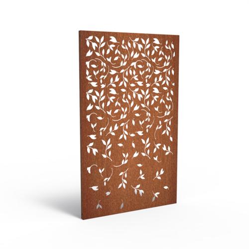 Adezz Producten Adezz Tuinpaneel Cortenstaal Bladeren 110x5x180cm