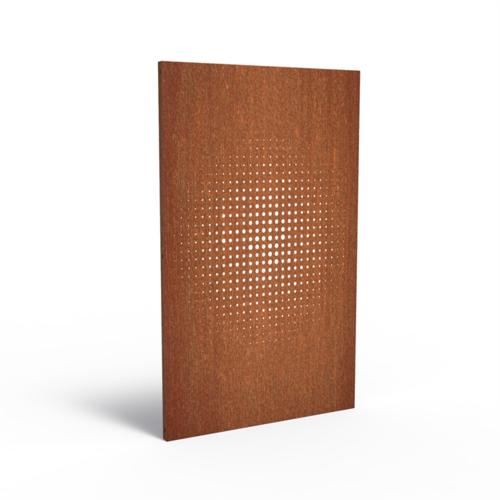 Adezz Producten Adezz Tuinpaneel Cortenstaal Raster 110x5x180cm