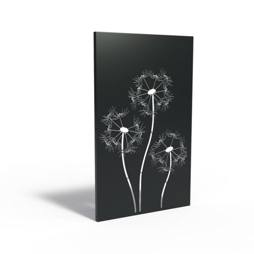 Adezz Producten Adezz Tuinpaneel Aluminium Paardenbloem 110x5x180cm