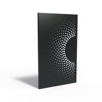 Adezz Tuinpaneel Aluminium Zon eclips links 110x5x180cm