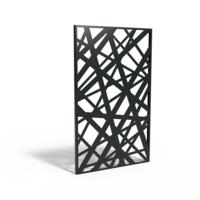 Adezz Tuinpaneel Aluminium Strepen 110x5x180cm