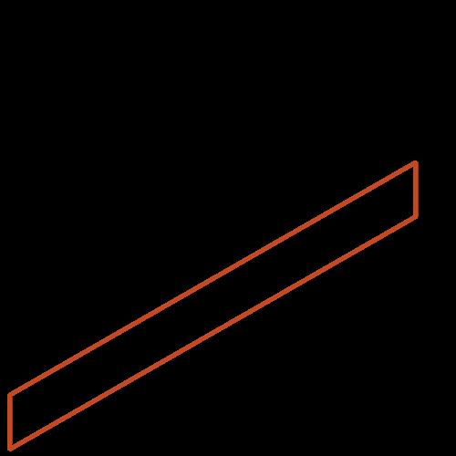 Adezz Producten Adezz Kantopsluiting Cortenstaal Recht (25 stuks) 2300x2x100mm