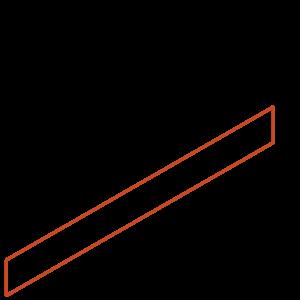 Adezz Producten Adezz Kantopsluiting Cortenstaal Recht (10 stuks) 2300x2x100mm