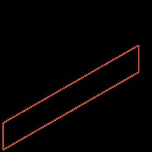 Adezz Producten Adezz Kantopsluiting Cortenstaal Recht (25 stuks) 2300x3x150mm