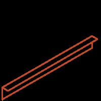 Adezz Kantopsluiting Cortenstaal Gezet (10 stuks) 2300x2x100mm