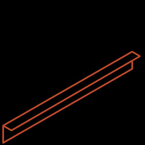 Adezz Producten Adezz Kantopsluiting Cortenstaal Gezet (10 stuks) 2300x2x100mm