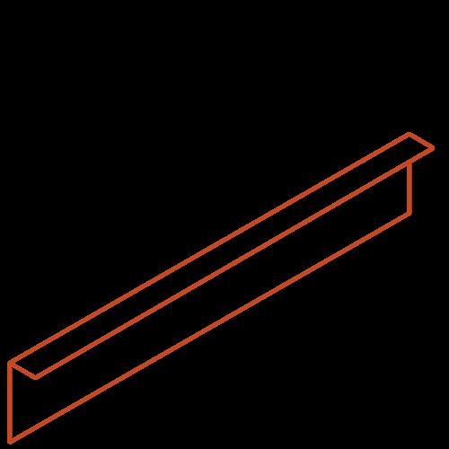 Adezz Producten Adezz Kantopsluiting Cortenstaal Gezet (10 stuks) 2300x3x150mm