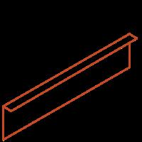 Adezz Kantopsluiting Cortenstaal Gezet (10 stuks) 2300x2x200mm