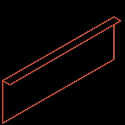 Adezz Producten Adezz Kantopsluiting Cortenstaal Gezet (25 stuks) 2300x2x290mm