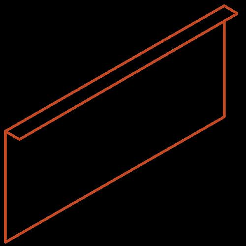 Adezz Producten Adezz Kantopsluiting Cortenstaal Gezet (10 stuks) 2300x2x390mm