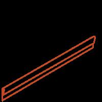 Adezz Kantopsluiting Cortenstaal Geplet (10 stuks) 2300x2x100mm