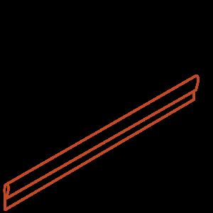 Adezz Producten Adezz Kantopsluiting Cortenstaal Geplet (10 stuks) 2300x2x100mm