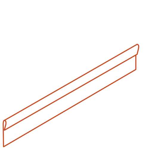 Adezz Producten Adezz Kantopsluiting Cortenstaal Geplet (10 stuks) 2300x2x150mm