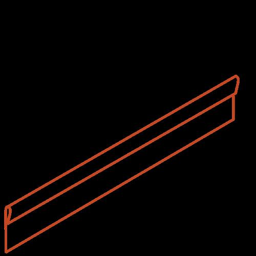 Adezz Producten Adezz Kantopsluiting Cortenstaal Geplet (10 stuks) 2300x3x150mm