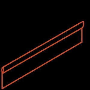 Adezz Producten Adezz Kantopsluiting Cortenstaal Geplet (10 stuks) 2300x2x200mm