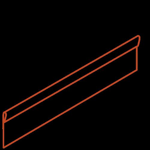 Adezz Producten Adezz Kantopsluiting Cortenstaal Geplet (25 stuks) 2300x3x200mm