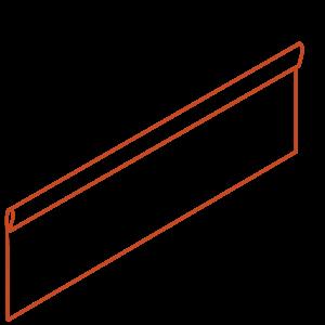 Adezz Producten Adezz Kantopsluiting Cortenstaal Geplet (25 stuks) 2300x2x290mm