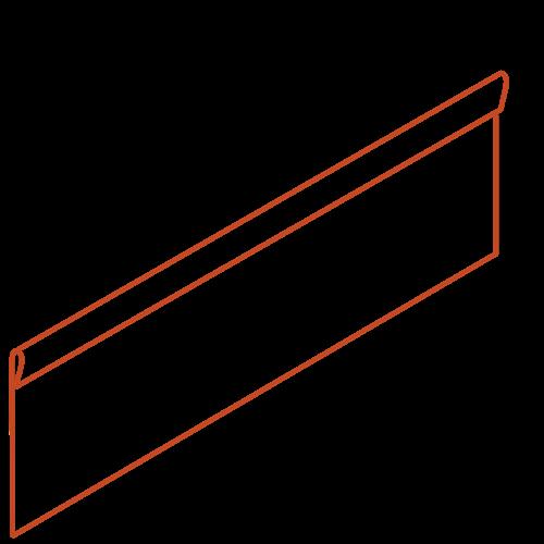 Adezz Producten Adezz Kantopsluiting Cortenstaal Geplet (10 stuks) 2300x2x290mm