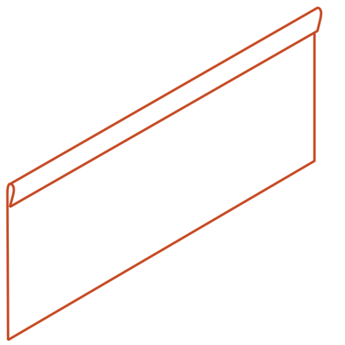 Adezz Producten Adezz Kantopsluiting Cortenstaal Geplet (10 stuks) 2300x2x390mm