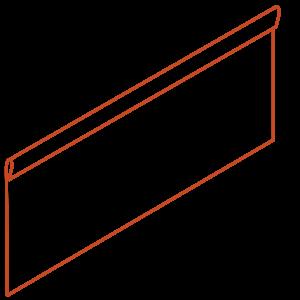 Adezz Producten Adezz Kantopsluiting Cortenstaal Geplet (25 stuks) 2300x3x390mm