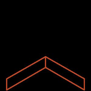 Adezz Producten Adezz Kantopsluiting Cortenstaal Hoek Recht 30x30x10cm