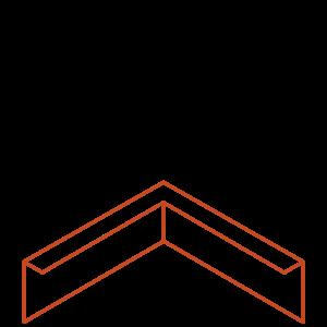 Adezz Producten Adezz Kantopsluiting Cortenstaal Hoek Gezet 30x30x15cm