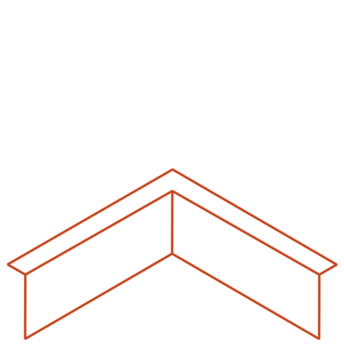 Adezz Producten Adezz Kantopsluiting Cortenstaal Hoek Gezet (Opgevouwen) 30x30x15cm